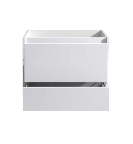 "Image of Fresca Catania 30"" Glossy White Wall Hung Modern Bathroom Cabinet 