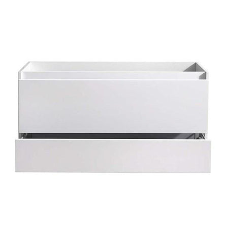 "Image of Fresca Catania 48"" Glossy White Wall Hung Double Sink Modern Bathroom Cabinet 