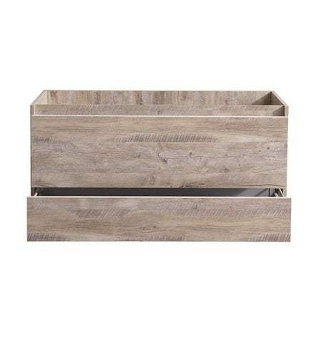 "Image of Fresca Catania 48"" Rustic Natural Wood Wall Hung Modern Bathroom Cabinet 