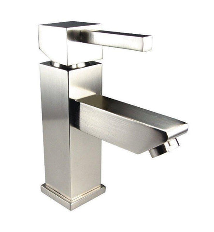 "Image of Fresca Catania 60"" Rustic Wood Single Sink Bath Vanity Set w/ Cabinet & Faucet FVN9260RNW-S-FFT1030BN"