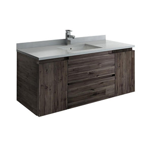 "Fresca Formosa 48"" Wall Hung Modern Bathroom Cabinet w/ Top & Sink FCB31-122412ACA-CWH-U"