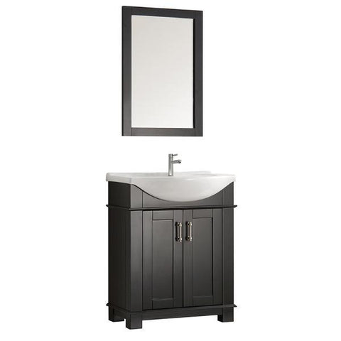 "Fresca Hartford 30"" Black Traditional Bathroom Vanity FCB2303BL-I"