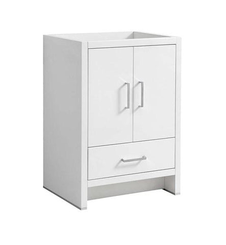 "Image of Fresca Imperia 24"" Glossy White Free Standing Modern Bathroom Cabinet 