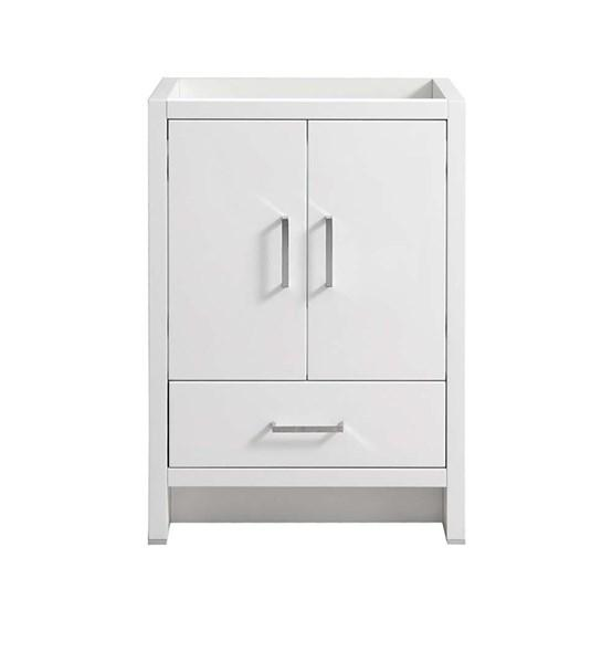 "Fresca Imperia 24"" Glossy White Free Standing Modern Bathroom Cabinet 