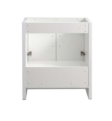 "Image of Fresca Imperia 30"" Glossy White Free Standing Modern Bathroom Cabinet 