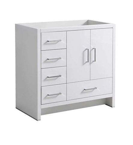 "Image of Fresca Imperia 36"" Glossy White Free Standing Modern Bathroom Cabinet - Left Version 