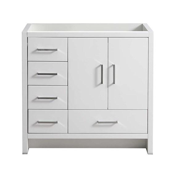 "Fresca Imperia 36"" Glossy White Free Standing Modern Bathroom Cabinet - Left Version 