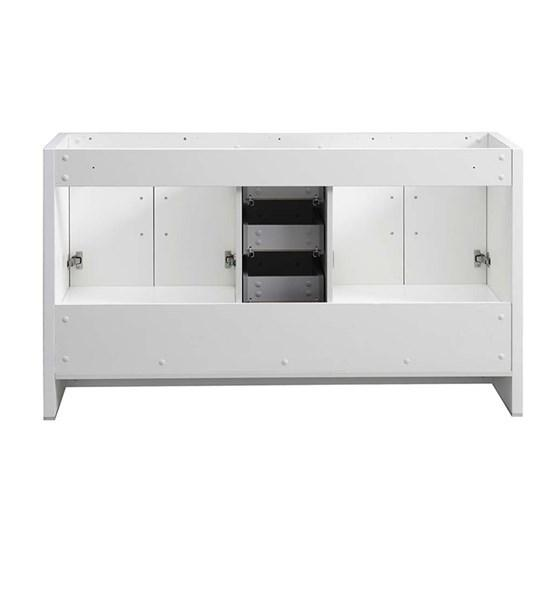 "Fresca Imperia 60"" Glossy White Free Standing Double Sink Modern Bathroom Cabinet 