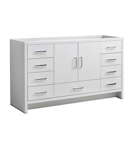 "Image of Fresca Imperia 60"" Glossy White Free Standing Single Sink Modern Bathroom Cabinet 