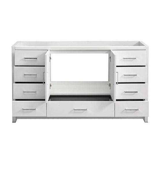 "Fresca Imperia 60"" Glossy White Free Standing Single Sink Modern Bathroom Cabinet 