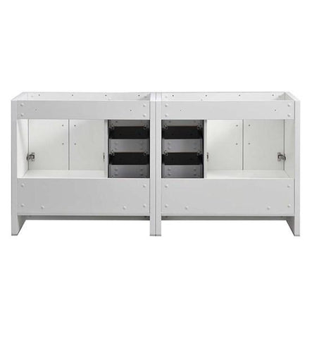 "Image of Fresca Imperia 72"" Glossy White Free Standing Double Sink Modern Bathroom Cabinet 