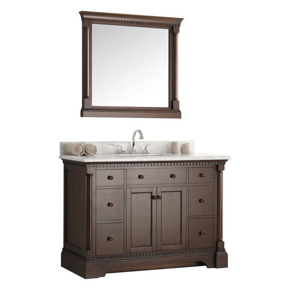 "Fresca Kingston 49"" Bathroom Vanity FVN2248AC-FFT3076BN"