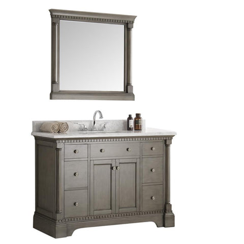 "Image of Fresca Kingston 49"" Bathroom Vanity FVN2248SA-FFT3076BN"