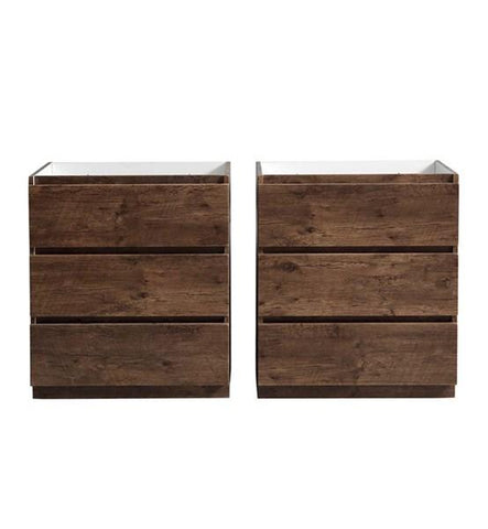 "Image of Fresca Lazzaro 60"" Rosewood Free Standing Double Sink Modern Bathroom Cabinet 