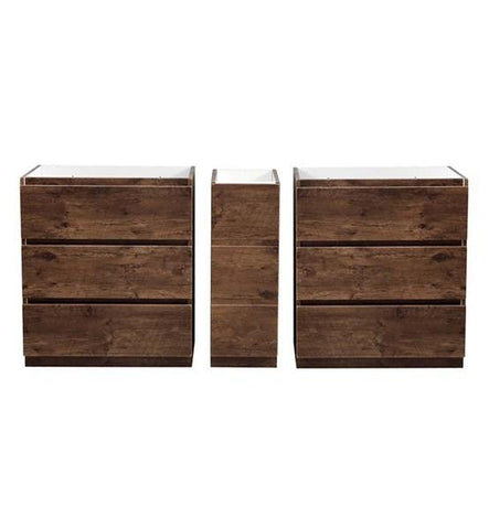"Image of Fresca Lazzaro 72"" Rosewood Free Standing Double Sink Modern Bathroom Cabinet 