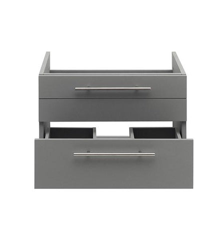 "Image of Fresca Lucera 24"" Gray Wall Hung Undermount Sink Modern Bathroom Cabinet 