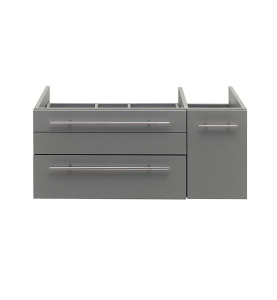 "Fresca Lucera 36"" Gray Wall Hung Vessel Sink Modern Bathroom Cabinet - Left Version 