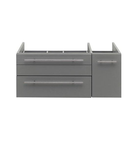 "Image of Fresca Lucera 36"" Gray Wall Hung Vessel Sink Modern Bathroom Cabinet - Left Version 