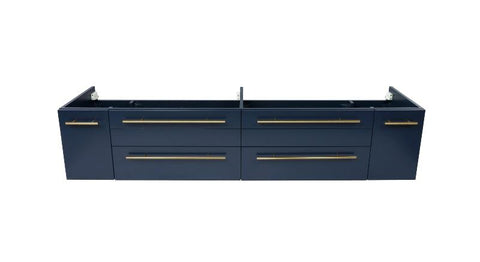 "Image of Fresca Lucera Modern 72"" Royal Blue Wall Hung Undermount Sink Bathroom Cabinet 