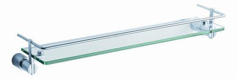 "Fresca Magnifico 21"" Glass Shelf w/ Railing - Chrome FAC0145"