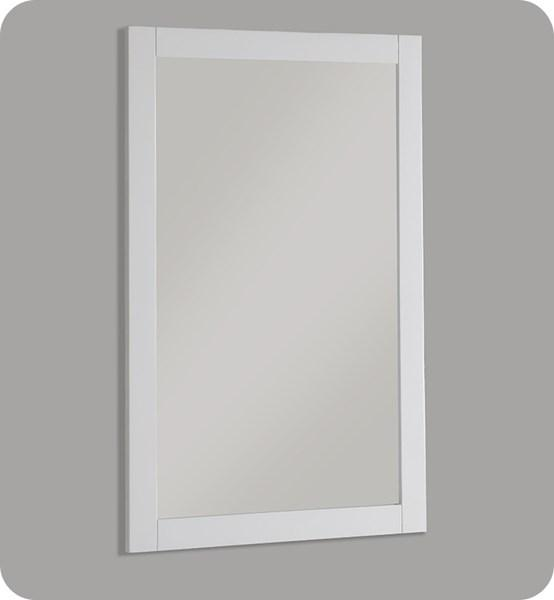 "Fresca Manchester 20"" White Traditional Bathroom Mirror 