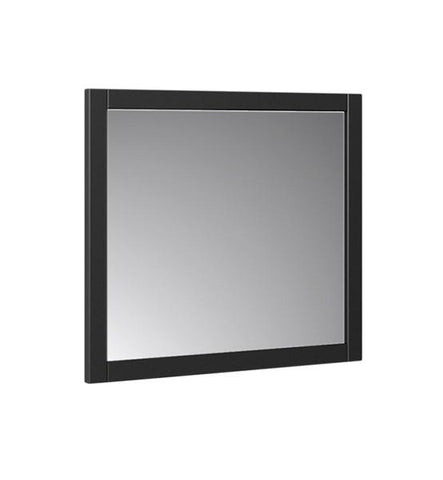 "Image of Fresca Manchester 30"" Black Traditional Bathroom Mirror 