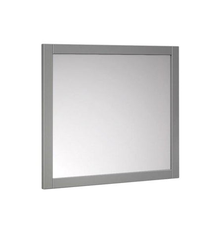"Image of Fresca Manchester 30"" Gray Traditional Bathroom Mirror 
