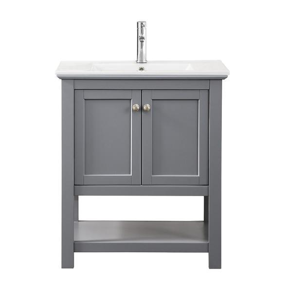 "Fresca Manchester 30"" Gray Traditional Bathroom Vanity FCB2305GR-I"