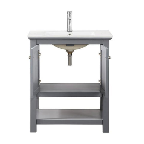 "Image of Fresca Manchester 30"" Gray Traditional Bathroom Vanity FCB2305GR-I"