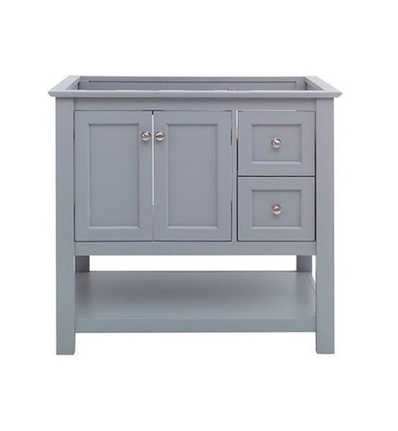 "Image of Fresca Manchester 36"" Gray Traditional Bathroom Cabinet 