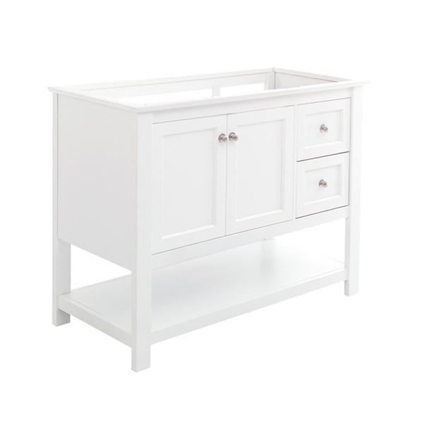 "Fresca Manchester 42"" White Traditional Bathroom Cabinet 