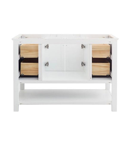 "Image of Fresca Manchester 48"" White Traditional Bathroom Cabinet 