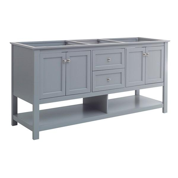"Fresca Manchester 72"" Gray Traditional Double Sink Bathroom Cabinet 
