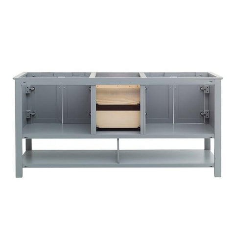 "Image of Fresca Manchester 72"" Gray Traditional Double Sink Bathroom Cabinet 