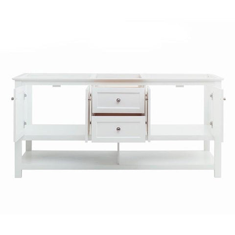 "Image of Fresca Manchester 72"" White Traditional Double Sink Bathroom Cabinet 