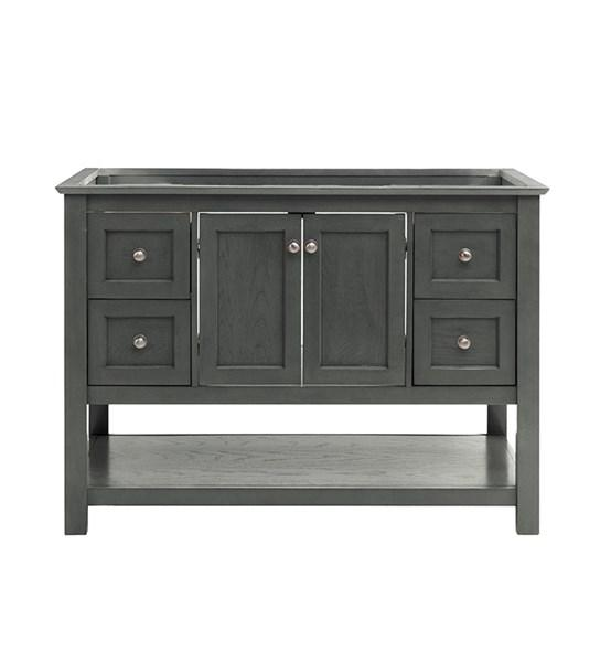 "Fresca Manchester Regal 48"" Gray Wood Veneer Traditional Bathroom Cabinet 