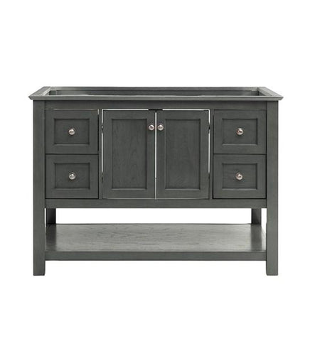 "Image of Fresca Manchester Regal 48"" Gray Wood Veneer Traditional Bathroom Cabinet 