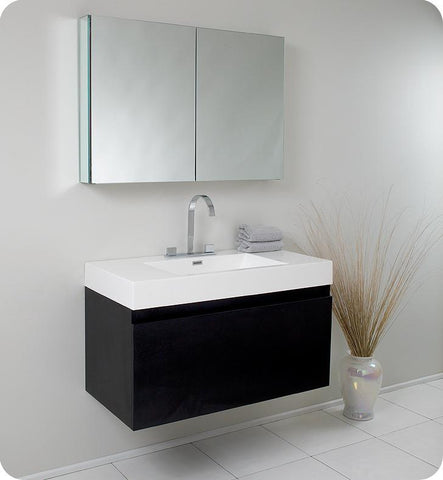"Image of Fresca Mezzo 39"" Modern Bathroom Vanity"