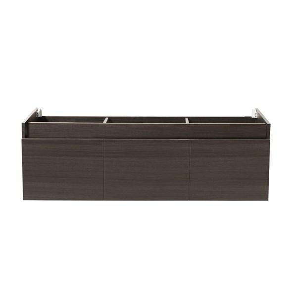 "Fresca Mezzo 60"" Gray Oak Wall Hung Single Sink Modern Bathroom Cabinet 