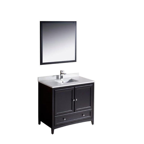 "Image of Fresca Oxford 36"" Espresso Traditional Single Bathroom Vanity FVN2036ES"