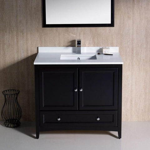 "Fresca Oxford 36"" Espresso Traditional Single Bathroom Vanity FVN2036ES"