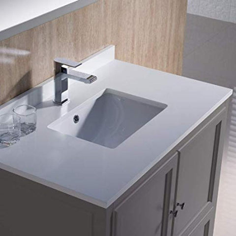 "Image of Fresca Oxford 36"" Gray Traditional Single Bathroom Vanity FVN2036GR"