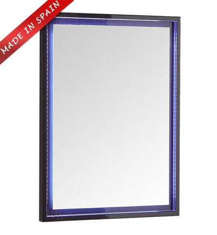 "Image of Fresca Platinum Due 24"" Glossy Cobalt Bathroom LED Mirror FPMR7824CB"