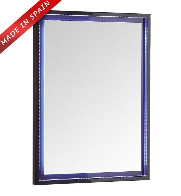 "Fresca Platinum Due 24"" Glossy Cobalt Bathroom LED Mirror FPMR7824CB"