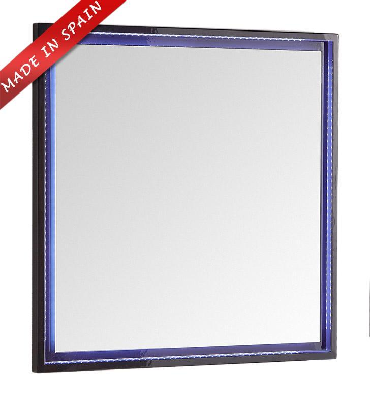 "Fresca Platinum Due 32"" Glossy Cobalt Bathroom LED Mirror FPMR7832CB"