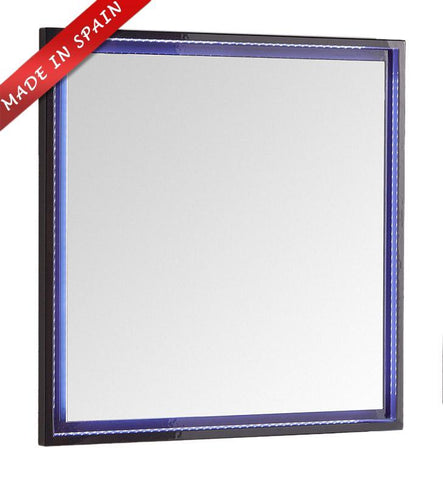 "Image of Fresca Platinum Due 32"" Glossy Cobalt Bathroom LED Mirror FPMR7832CB"