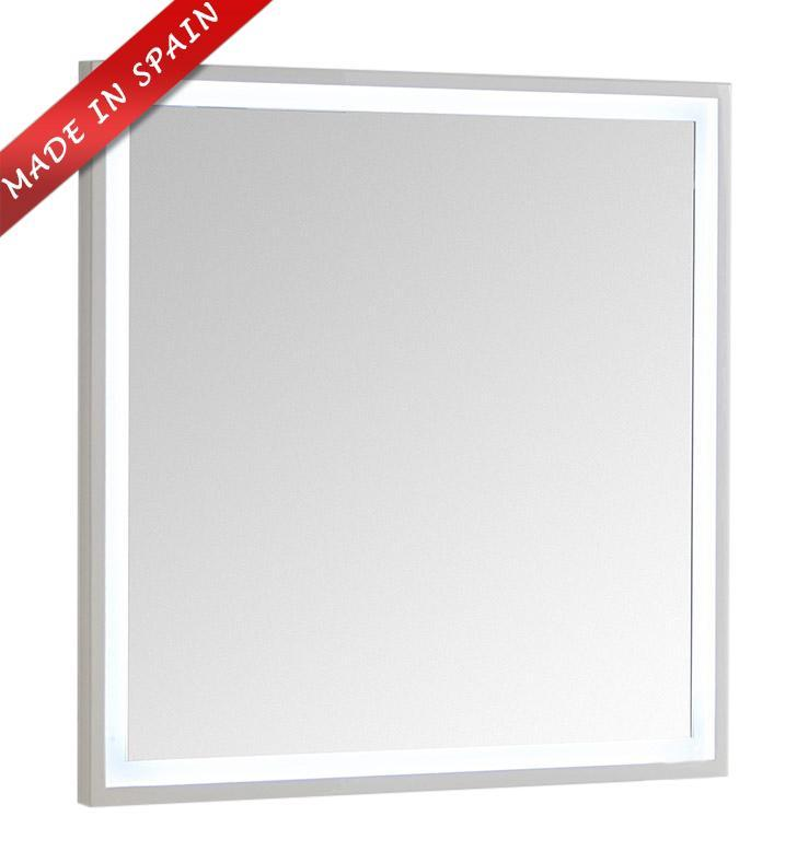"Fresca Platinum Due 32"" Glossy White Bathroom LED Mirror FPMR7832WH"