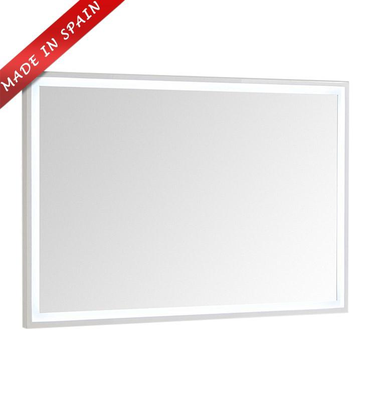 "Fresca Platinum Due 48"" Glossy White Bathroom LED Mirror FPMR7848WH"