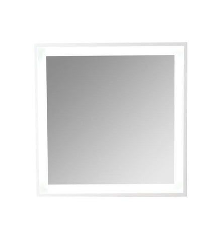 "Image of Fresca Platinum Wave 32"" Glossy White Bathroom Mirror w/ LED Lighting FPMR7564WH"