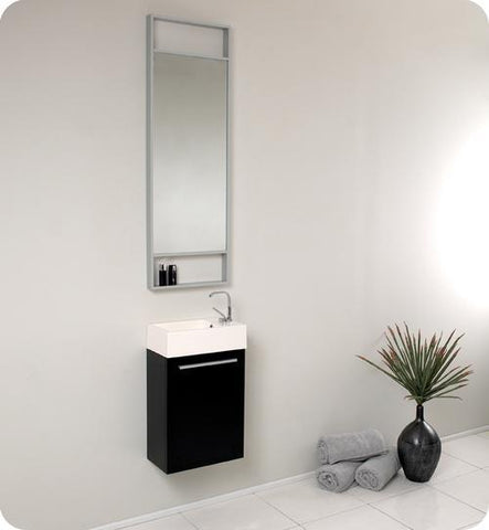 "Image of Fresca Pulito 16"" Small Bathroom Vanity FVN8002BW-FFT1030BN"